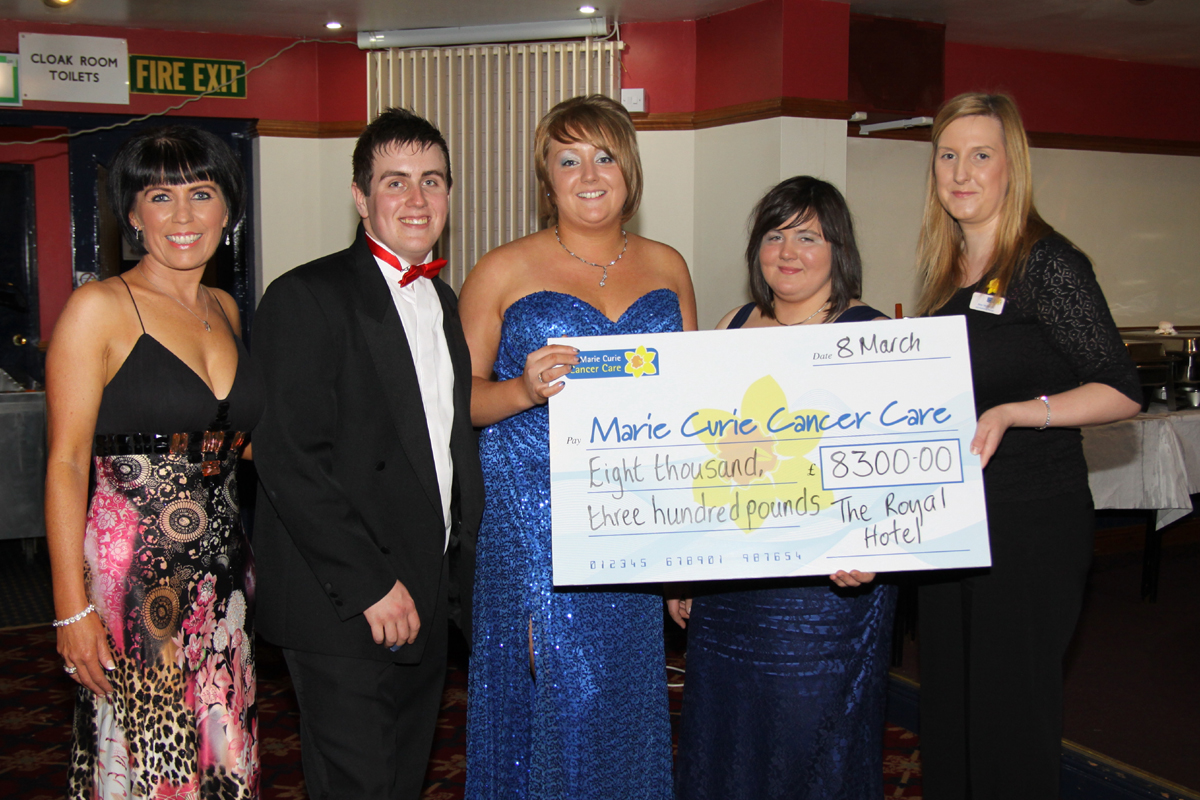 The royal hotel Charity Marie Curie Cancer fundraiser