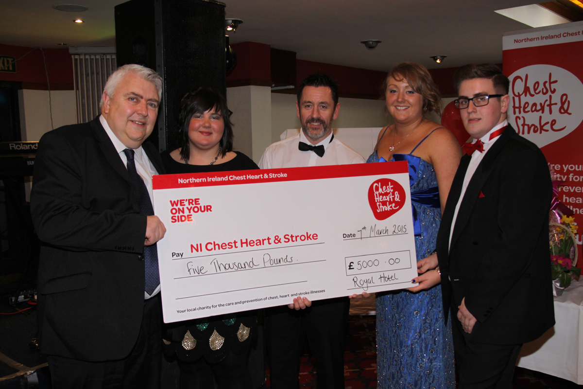 The royal hotel NI Chest Heart & Stroke Charity work