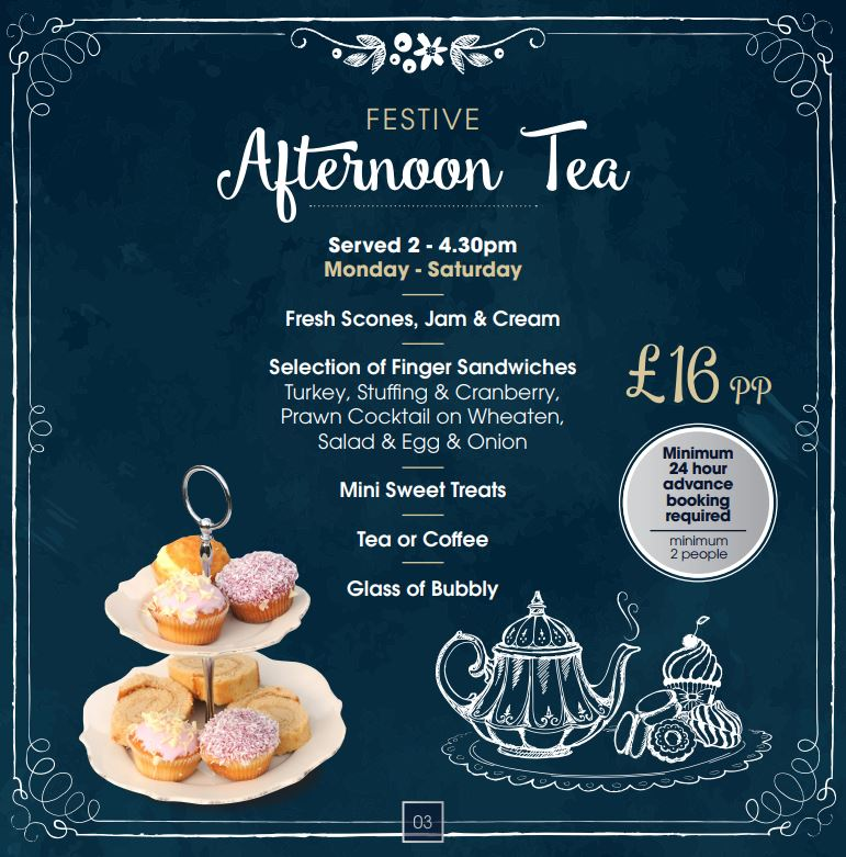 festive afternoon tea
